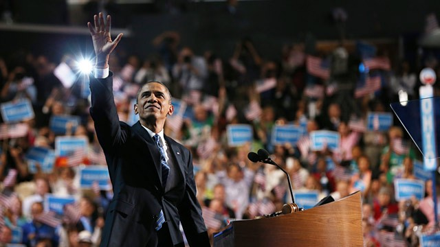 President Barack Obama DNC 2012 - Via AP